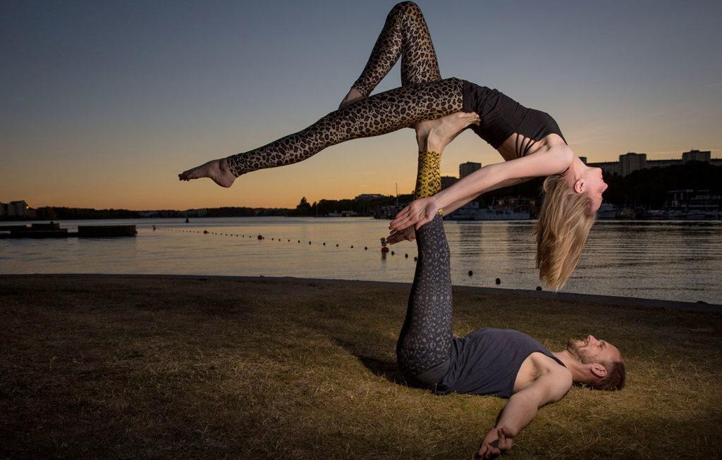 Fotosession i Stockholm: Fotografering av talanger inom acroyoga